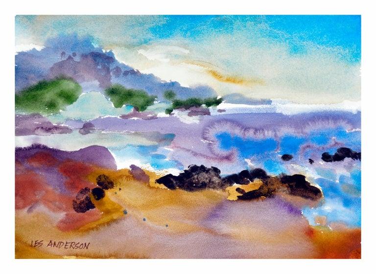 Les Anderson Landscape Painting - Carmel Cove