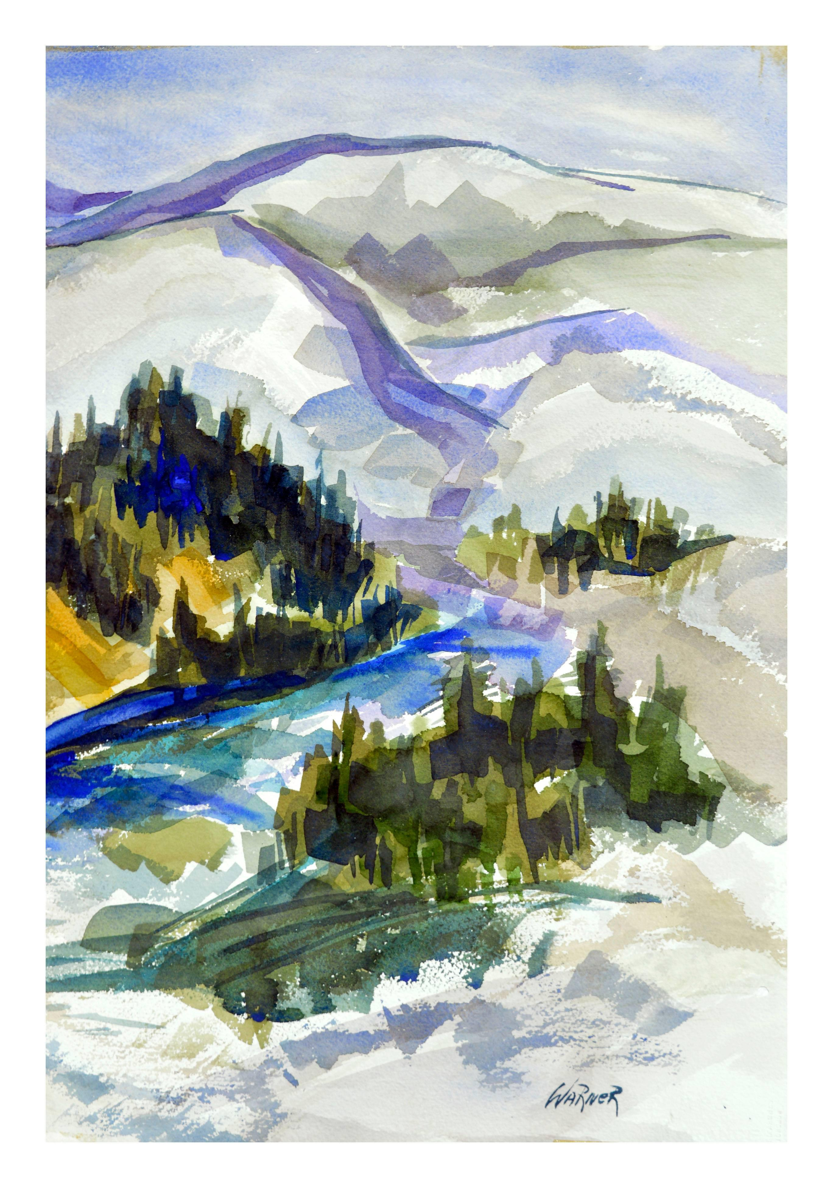 Sierra Mountains - 1970's Abstracted Landscape
