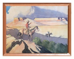 Cowboy and His Horse, 1929 - M. Taber
