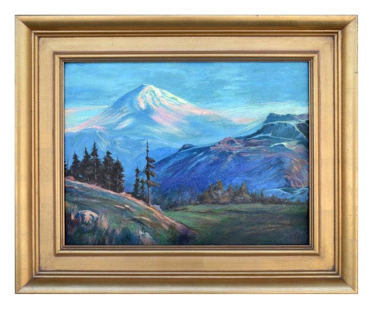 Lorenz E. Griffith Landscape Painting - Early 20th Century Mt. Shasta Landscape