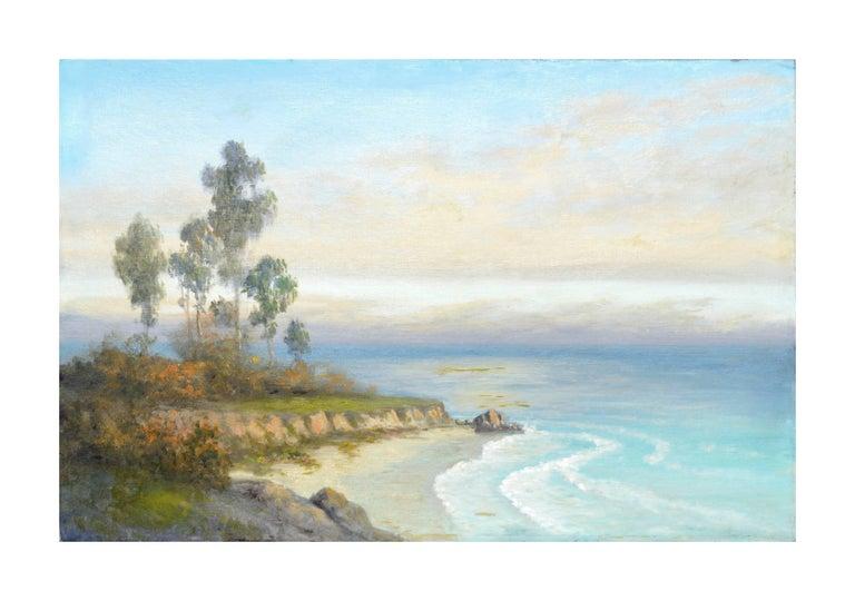 Unknown Landscape Painting - Mid Century Carmel Coast and Eucalyptus Landscape