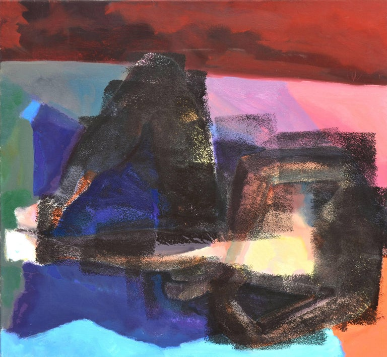 Unknown Abstract Painting - Reclining Figurative Abstract