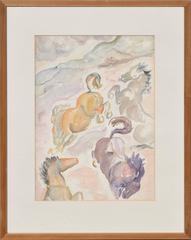 Playful Pastel Horses