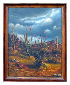 Mid Century Desert Flowers Landscape