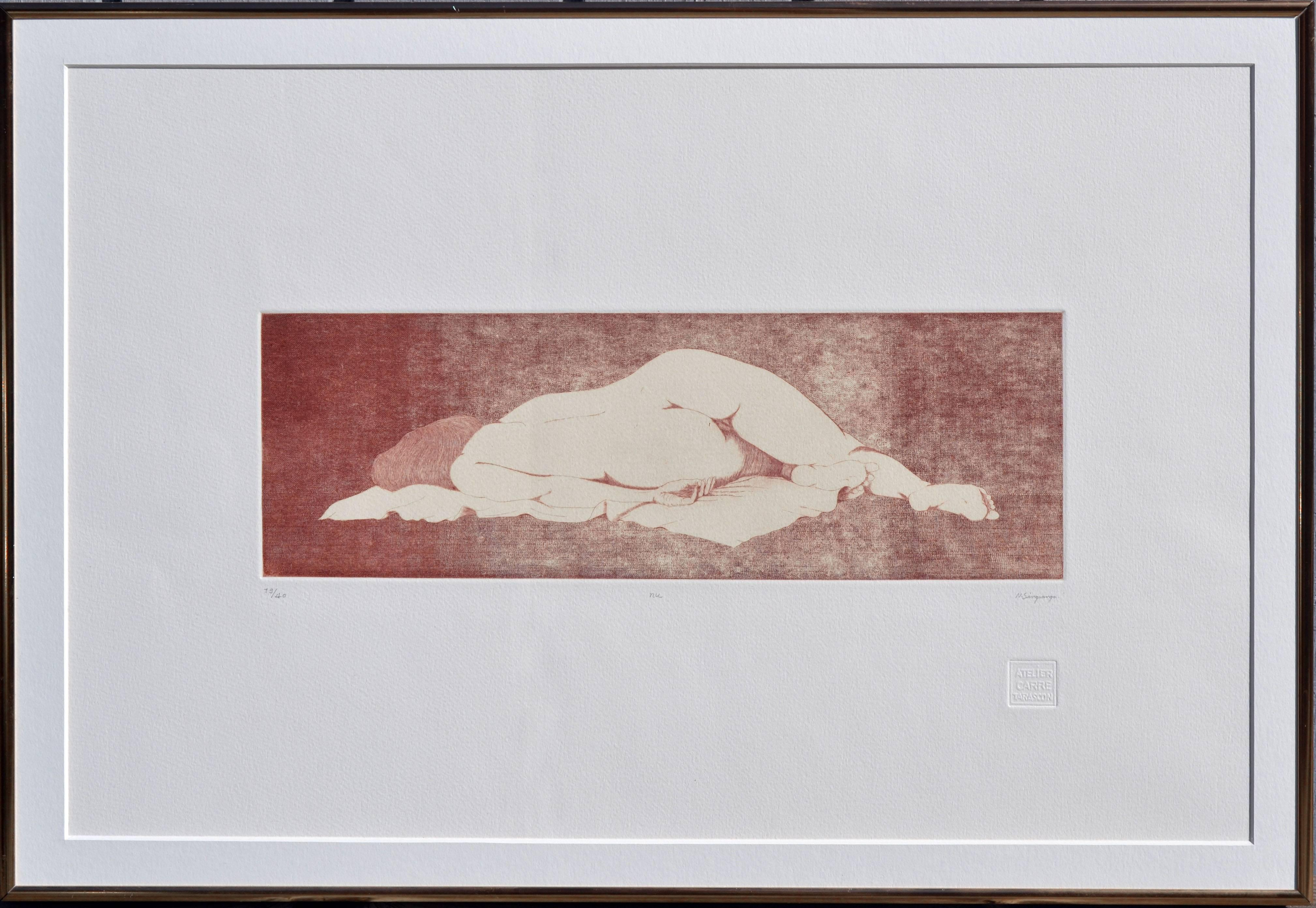 Reclining Nude Etching