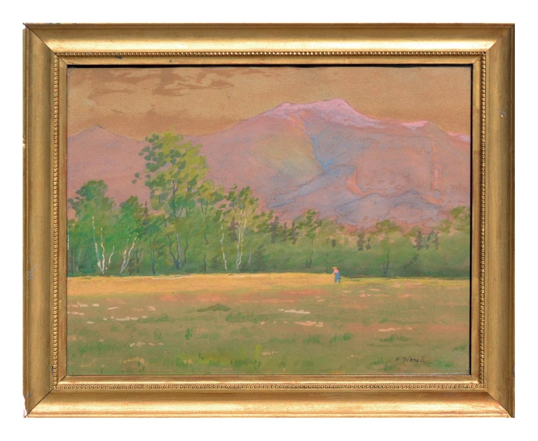 Susan Field Bissell Landscape Painting - Late 19th Century Adirondack Mountains, New York Landscape
