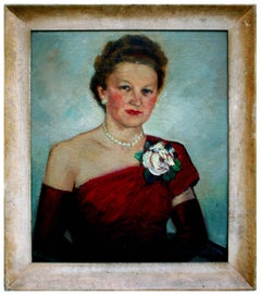 The White Rose Portrait of Woman