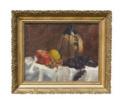 19th Century Still Life Wine & Fruit
