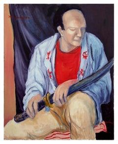 """""""Samurai"""" Seated Figure"""