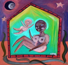 The House - Mother & Child Figurative Abstract