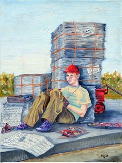 The Paper Boy and His Comics Figurative by Louise Miller Clark