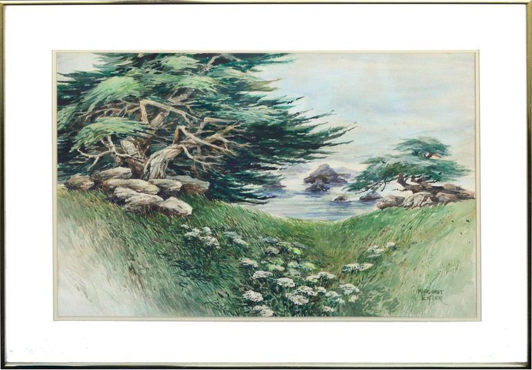 Shore Carmel Cypress  - Painting by Margaret Eifler