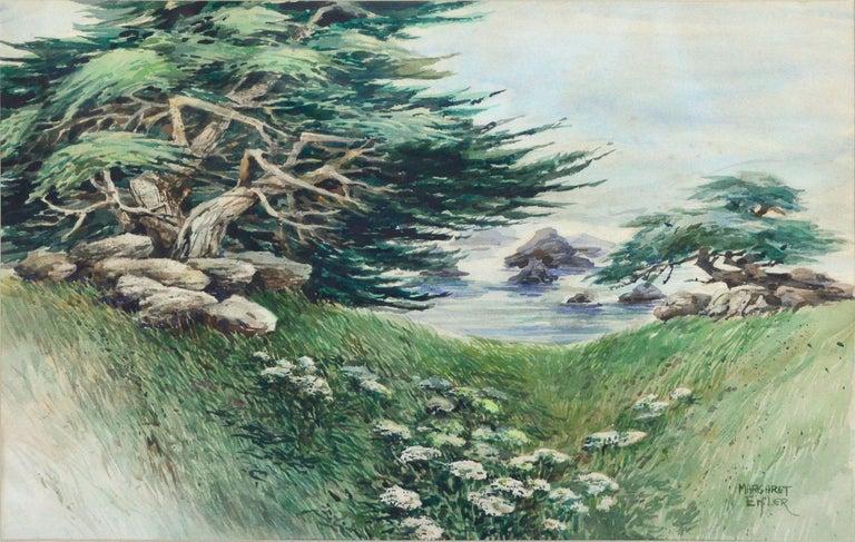 Margaret Eifler Landscape Painting - Shore Carmel Cypress