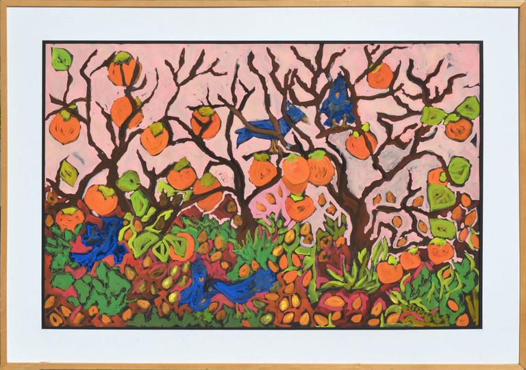 Persimmons and Blue Jays 2