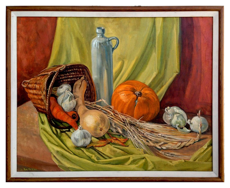 Dorothy Bouthillier Still-Life Painting - Mid Century Autumn Still Life