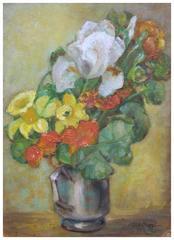 Iris and Daffodils Still Life