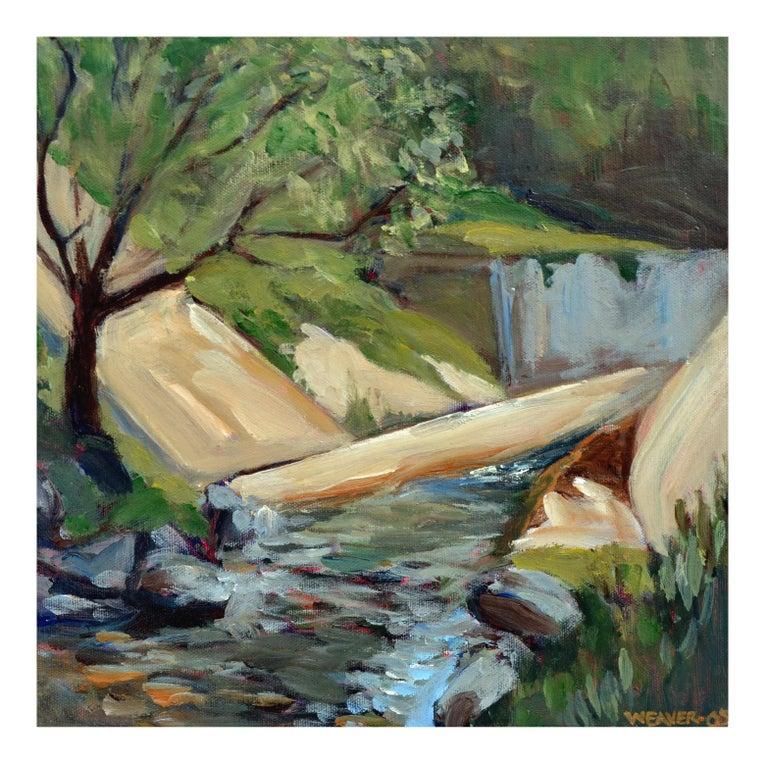 Unknown Landscape Painting - Big Sur Stream - Weaver