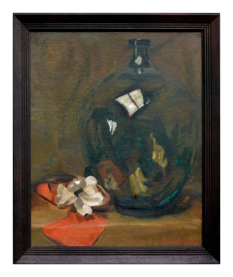 Helen Bratton Still-Life Painting - Flower and Jug Still Life