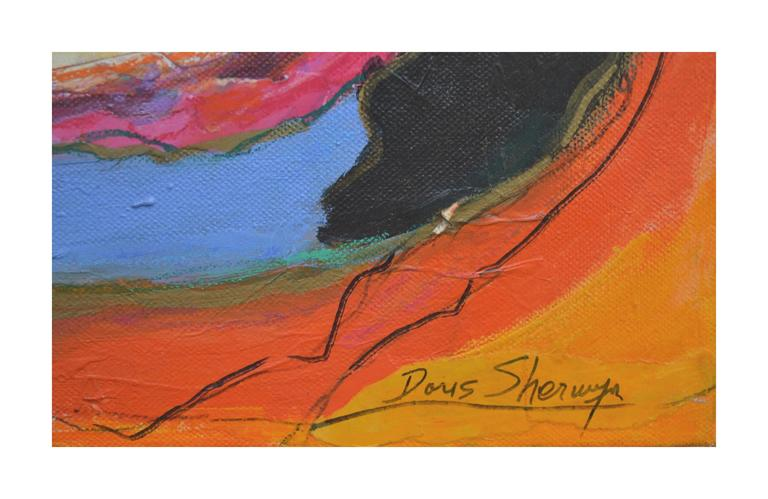 Earth Breath - Abstract Painting by Doris Sherwyn