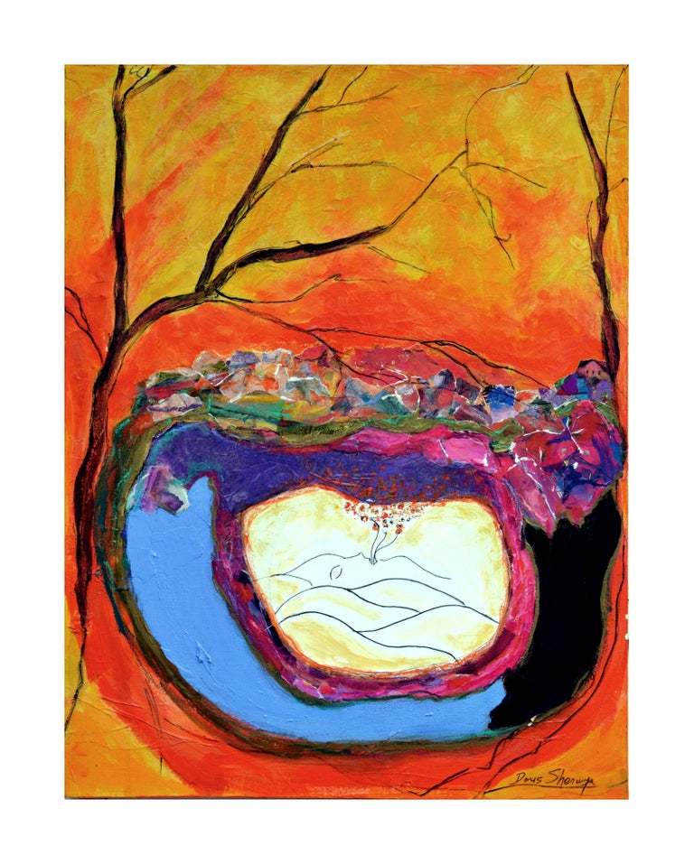 Doris Sherwyn Figurative Painting - Earth Breath