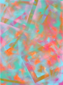 Pink and Cyan Abstract