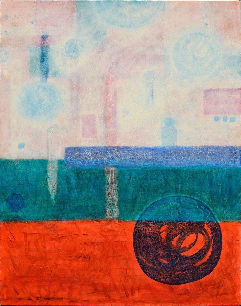 Julie Fudge Figurative Painting - Origins Abstract