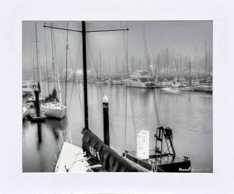 Richard Singer Landscape Photograph - Foggy Harbor, Santa Cruz