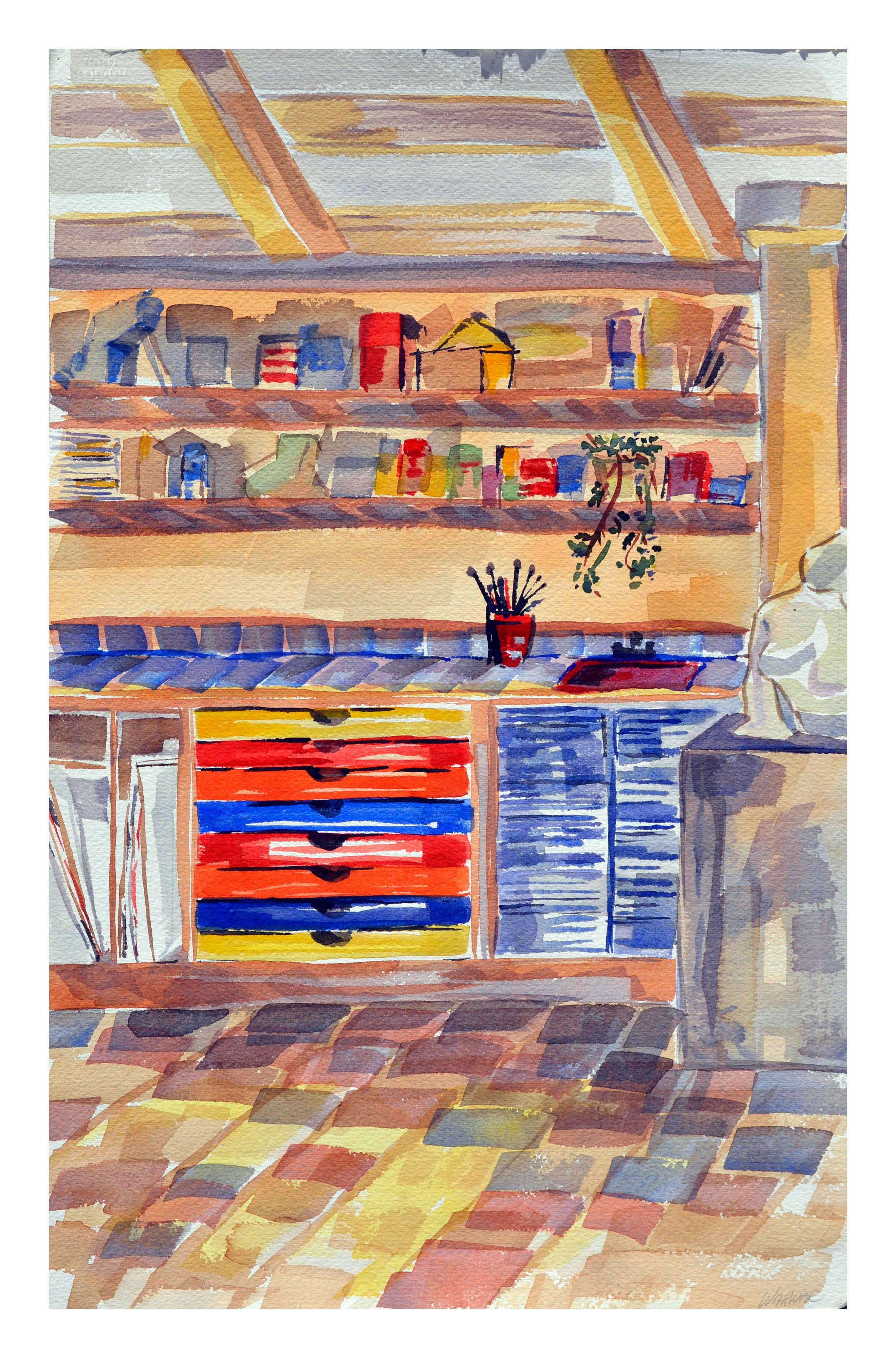 The Artists Studio - Interior Watercolor