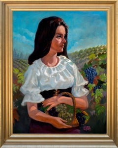 Woman in the Vineyards, Napa California