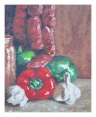 Still Life w/Red Pepper