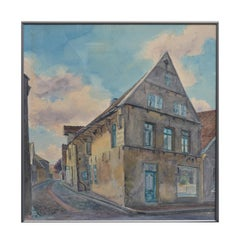 Germany, The Old Bakery - European Watercolor Landscape