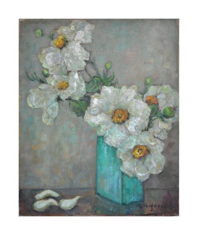 Helen Enoch Gleiforst Teapot Vase And Fruit Painting For Sale At