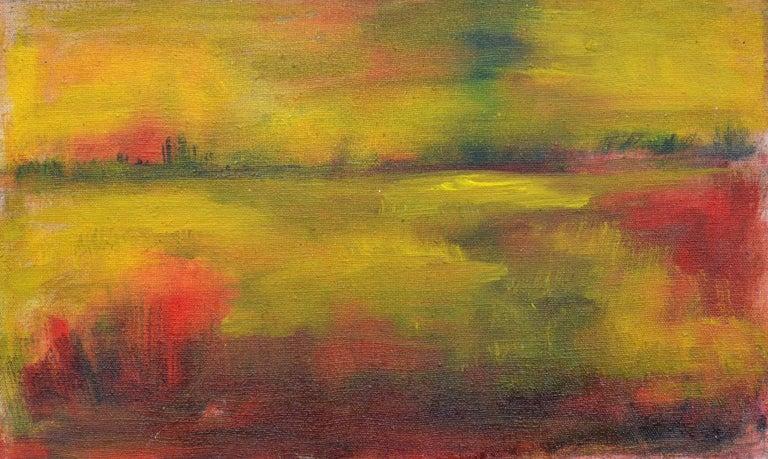 Tom Hamil Landscape Painting - Wetlands at Sunset Landscape