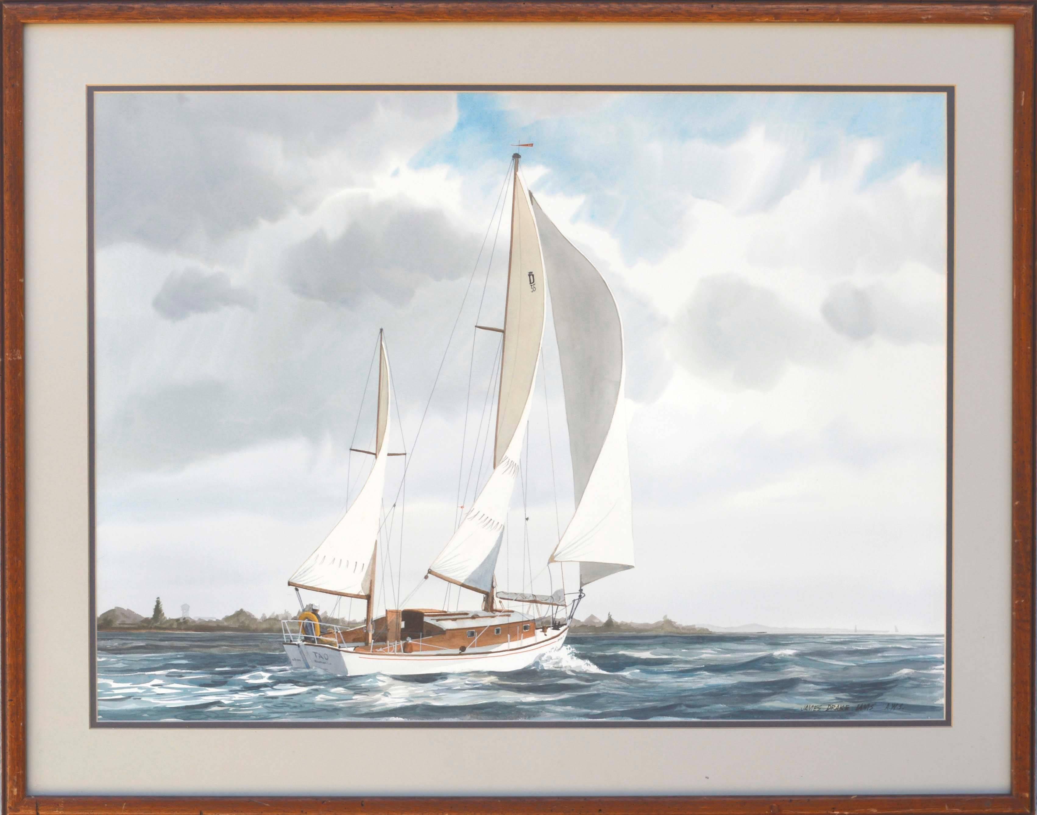 Chesapeake Bay Sailboat Seascape