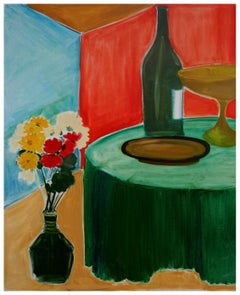 Flowers and Wine Still Life