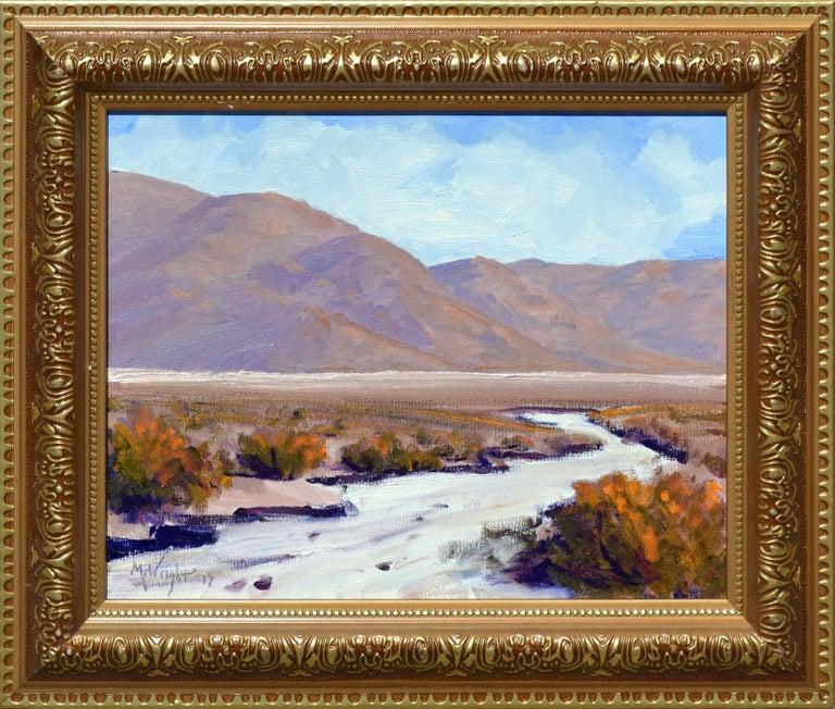 Michael Wright Landscape Painting - Desert Flats, Death Valley Landscape