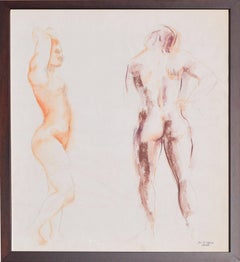 Mid Century Figurative Study of Pair