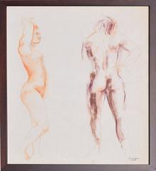 Mid Century Figurative Study of Pair