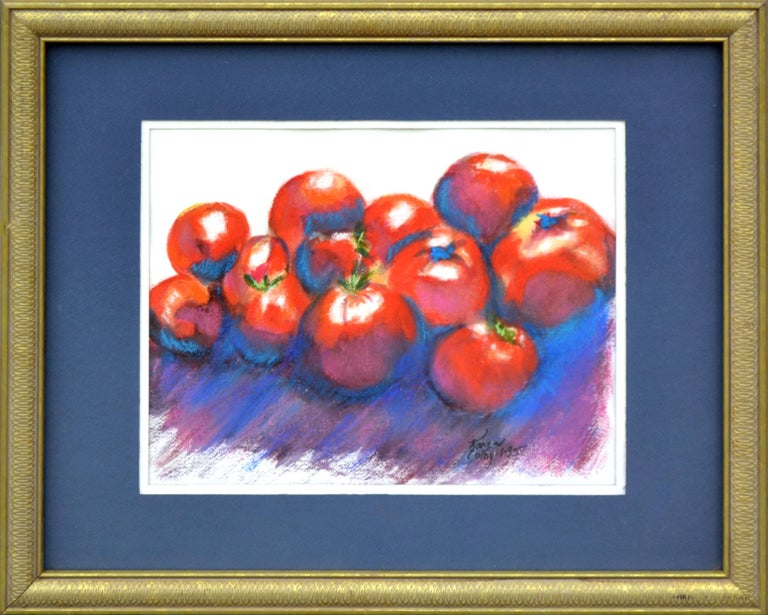 Karen Colby Still-Life Painting - Red Tomatoes Still-Life