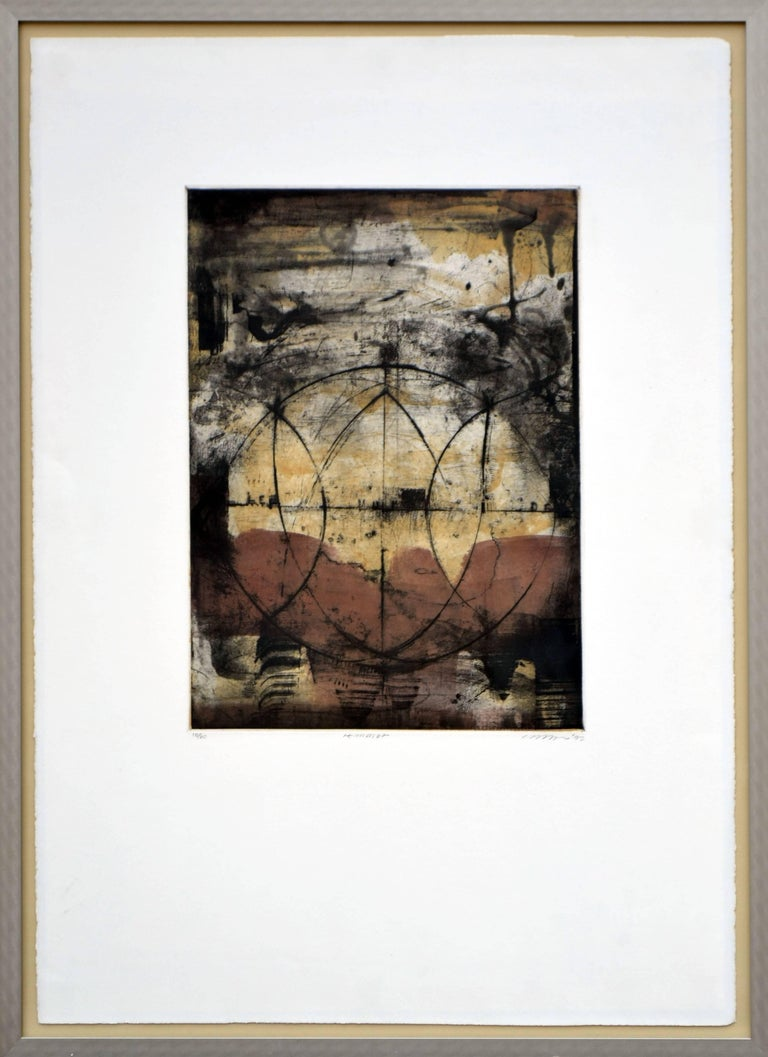 Unknown Abstract Print - Earth Tones
