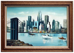 Under the Brooklyn Bridge by Louis Stanio Cityscape
