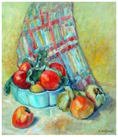 Basket of Fuji Apples Mid Century Still Life