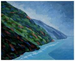 Fauvist Big Sur Coast Landscape