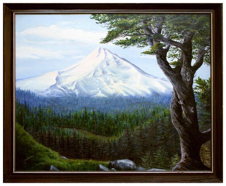J Adams Landscape Painting - Mt. Hood, Oregon - Mountain Landscape