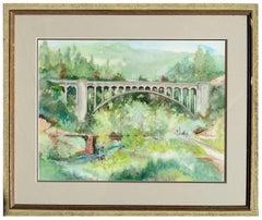 Under the Bridge Mid Century Landscape