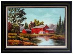 Red Barn in the Countryside