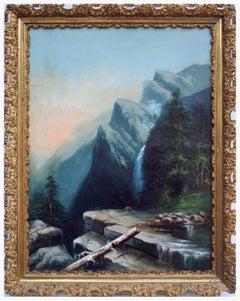 """Three Brothers"" Mountain Peaks - Yosemite National Park, California Landscape"