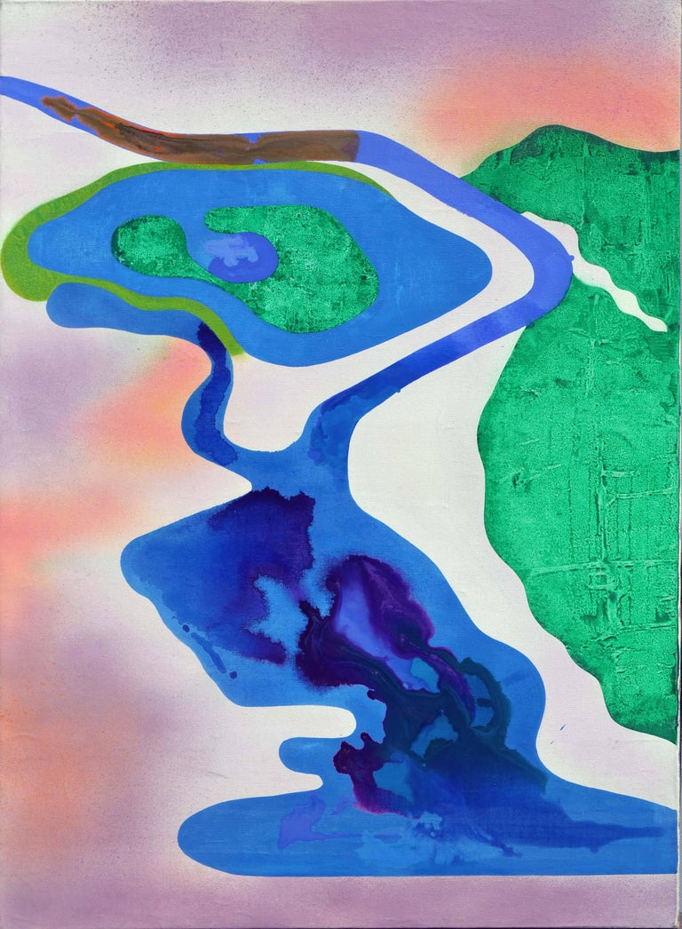Erle Loran Abstract Painting - San Francisco Salt Ponds Abstract