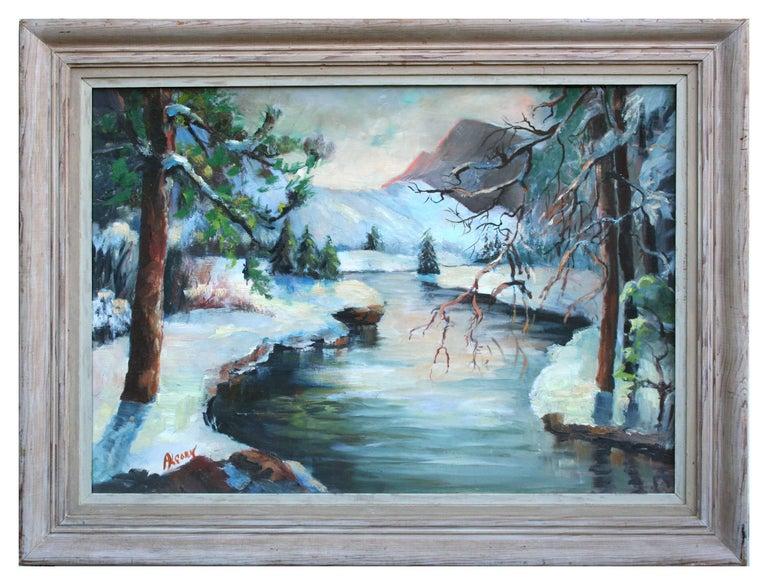 Rowena Lung Alcorn Landscape Painting - Merced River Yosemite Landscape