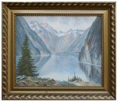 Mid Century Reflecting Mountains Norwegian Landscape